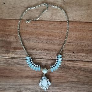 Blue Jeweled Candie's Statement Necklace